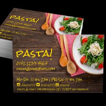 Restaurant-Visitenkarte Social Me