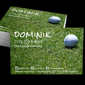Sportgeschäft-Visitenkarte Social Me