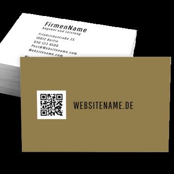 Schuhladen-Visitenkarte QR Style