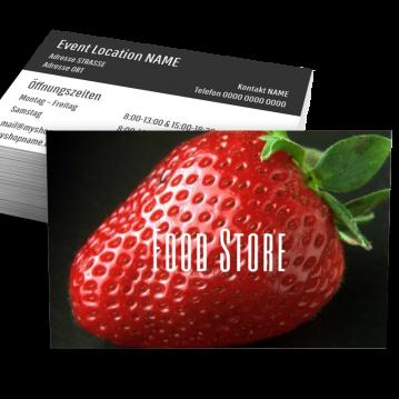 Obst & Gemüse-Visitenkarte Food Type