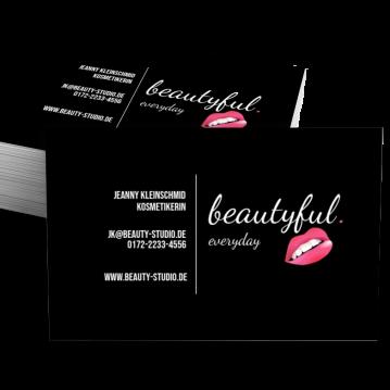 Kosmetik-Visitenkarte Dot
