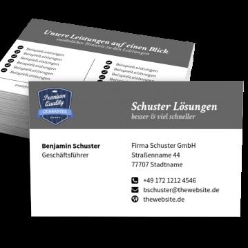 Reifen-Visitenkarte Label