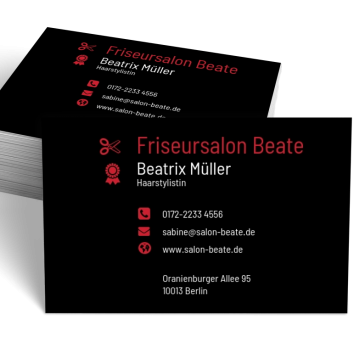 Friseur Visitenkarte Modern
