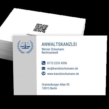 Rechtsanwalt-Visitenkarte Modern