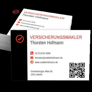 Versicherung-Visitenkarte Modern