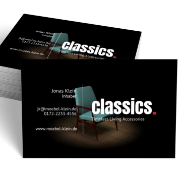 Möbel-Visitenkarte Dot