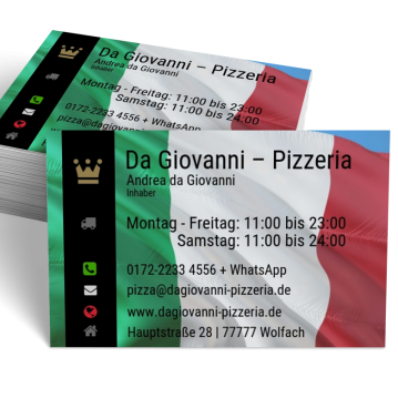 Pizza-Service-Visitenkarte Modern