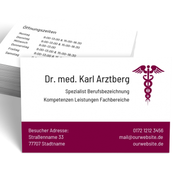 Arzt-Visitenkarte Praxis