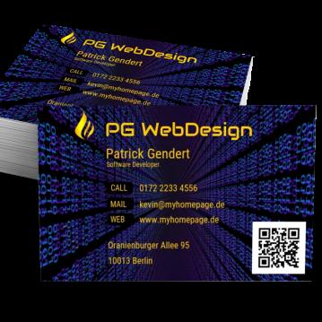 IT & Software-Visitenkarte Modern