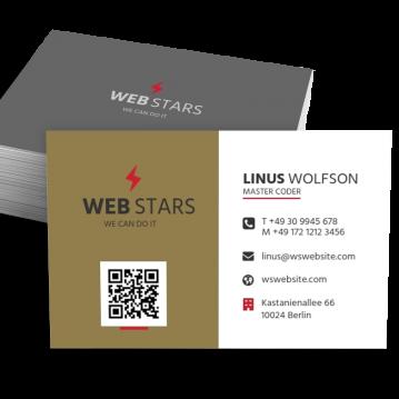 Werbung & Design-Visitenkarte QR Style