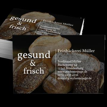 Bäcker & Konditor-Visitenkarte Impulsiv