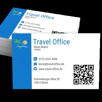Reisebüro-Visitenkarte Modern