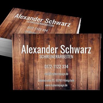 Schreiner-Visitenkarte Element