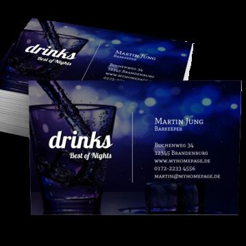 Bar & Club-Visitenkarte Impulsiv