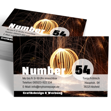 Werbung & Design-Visitenkarte me