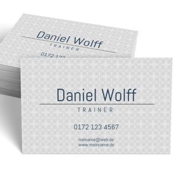 Ausbildung & Training-Visitenkarte Center