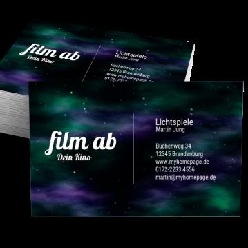 Kino & Theater-Visitenkarte Impulsiv