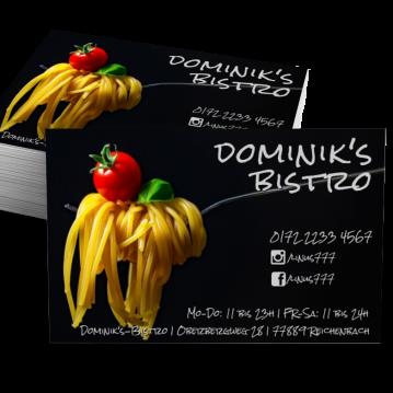 Pizza-Service-Visitenkarte Social Me