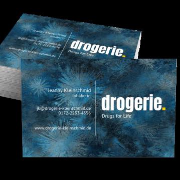 Drogerie-Visitenkarte Dot