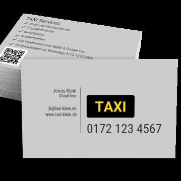 Taxi-Visitenkarte Dot