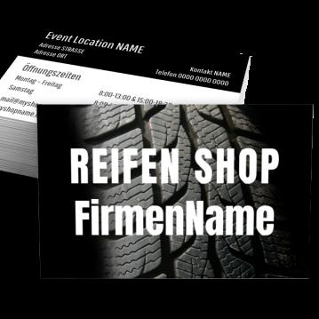 Reifen-Visitenkarte Shop Here
