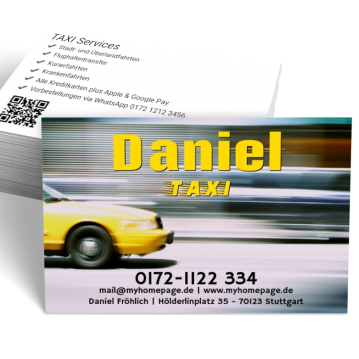 Taxi-Visitenkarte Element