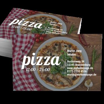Pizza-Service-Visitenkarte Impulsiv