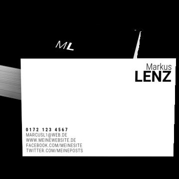 Private Visitenkarten-Visitenkarte Brand Type