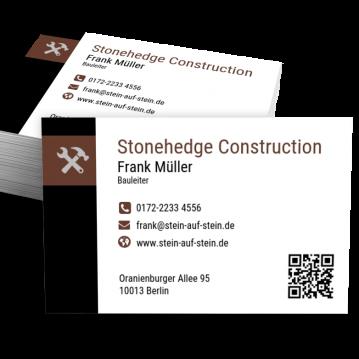 Baufirma-Visitenkarte Modern
