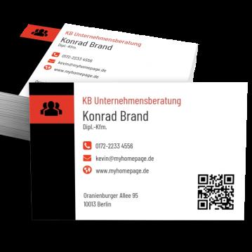 Unternehmensberater-Visitenkarte Modern
