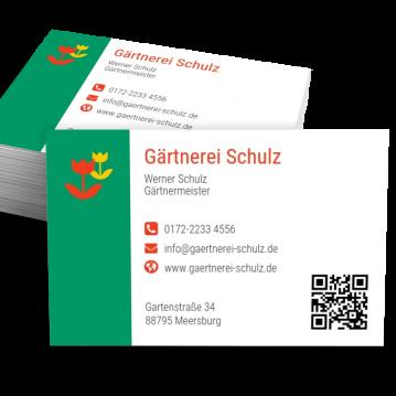 Gärtner-Visitenkarte Modern