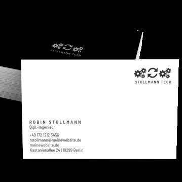 Unternehmensberater-Visitenkarte Typo
