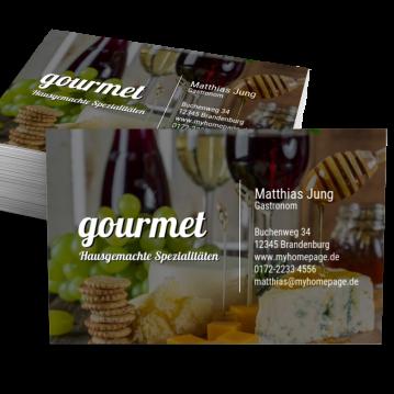 Restaurant Visitenkarte Impulsiv