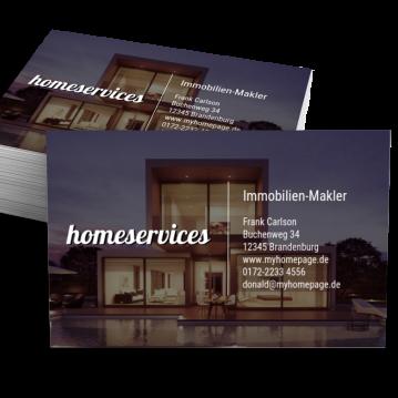 Immobilien-Makler-Visitenkarte Impulsiv
