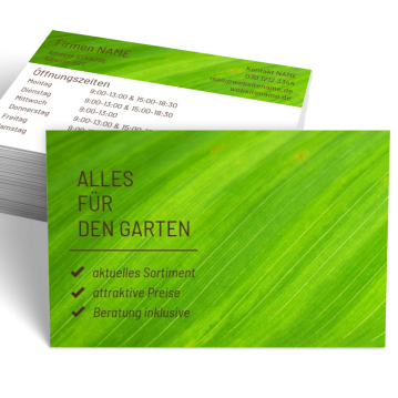 Gärtner-Visitenkarte Shop Here