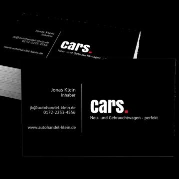 Autohandel-Visitenkarte Dot
