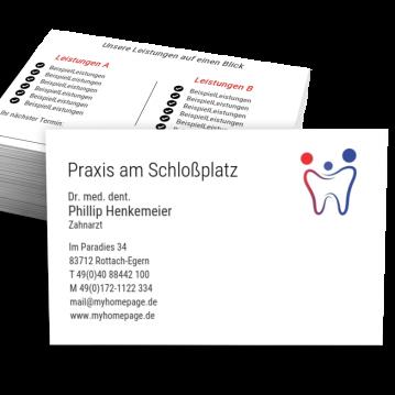 Zahnarzt-Visitenkarte Praxis