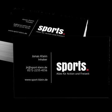 Sportgeschäft-Visitenkarte Dot