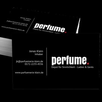 Parfümerie-Visitenkarte Dot