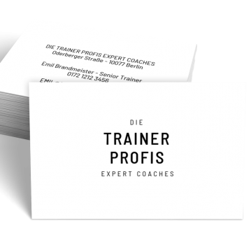 Ausbildung & Training-Visitenkarte Experts