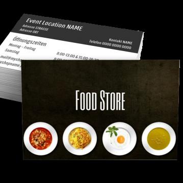 Pizza-Service-Visitenkarte Food Type