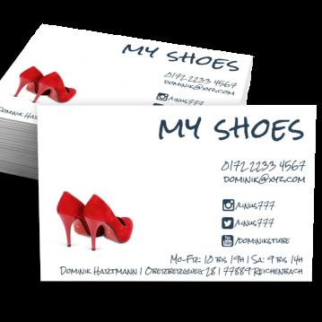 Schuhladen-Visitenkarte Social Me