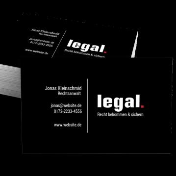 Rechtsanwalt-Visitenkarte Dot
