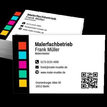 Maler-Visitenkarte Modern