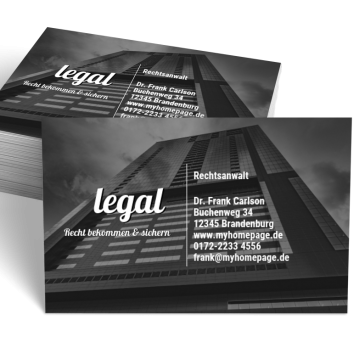 Rechtsanwalt-Visitenkarte Impulsiv