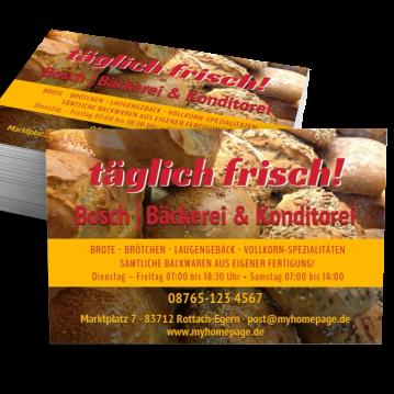 Bäcker & Konditor-Visitenkarte Offer