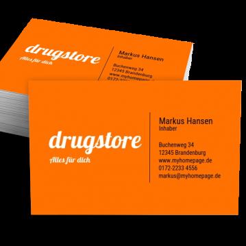 Drogerie-Visitenkarte Impulsiv