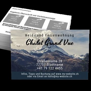 Freizeit/Reise-Visitenkarte Book Me