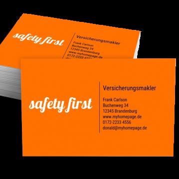 Versicherung-Visitenkarte Impulsiv
