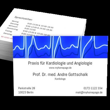 Arzt Visitenkarte Stripe